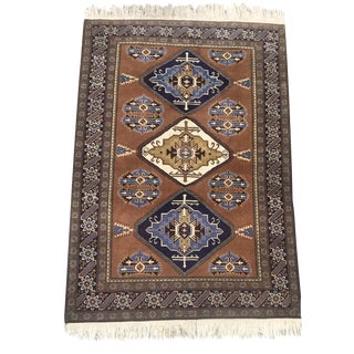 Vintage Caucasian Kazak Rug- 4′4″ × 6′6″