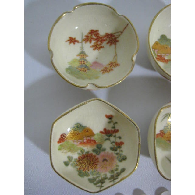 1900s Japanese Satsuma Open Salt Cellars/Dips - Image 3 of 10