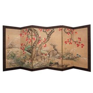 Meiji Japanese screen