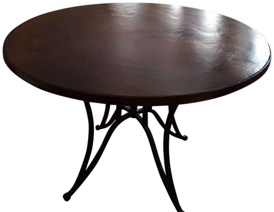 arhaus round dining table arhaus copper top amp iron base dining table chairish 870