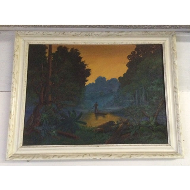 Image of Mid-Century Oil Painting by Rizzo Nocturne