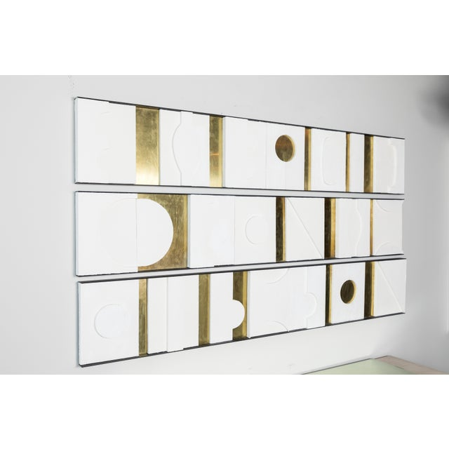 Art Wall Sculpture Panels Triptych by Paul Marra - Image 2 of 8