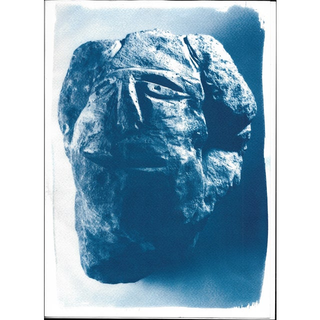 Image of Cyanotype Print - Abstract Rock Face