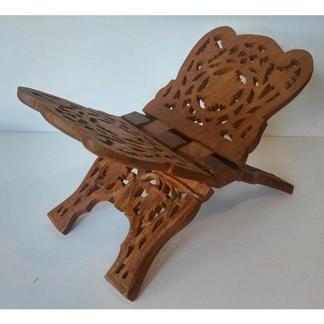 Vintage Carved Wood Book Stand - Image 2 of 7