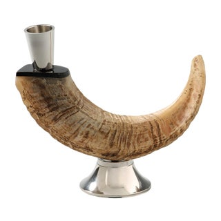 Ram Horn Candle Holder