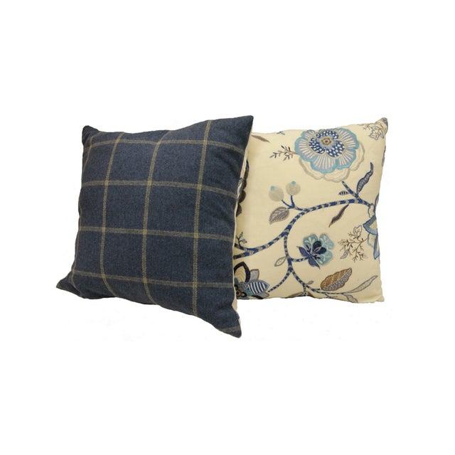 Custom Down Throw Pillows : Custom Floral Throw Pillows - A Pair Chairish
