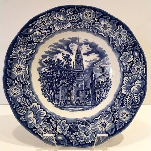 """1970's English Staffordshire """"Independence Hall"""" Dinner Plates - Set of 15 - Image 3 of 6"""