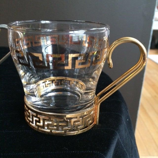 Greek Key Bar Mugs - Set of 5 - Image 2 of 4