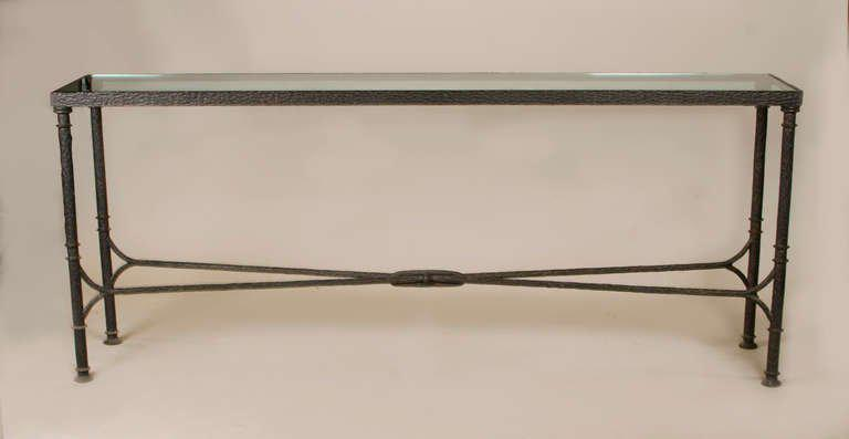 Bronze U0026 Glass Console Table   Image 4 ...