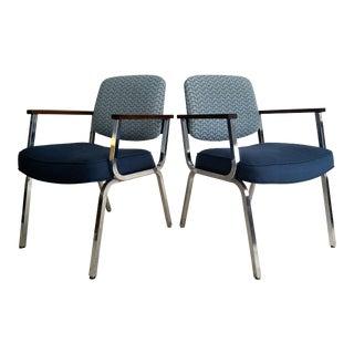 Vintage Modern Chrome Chairs - a Pair