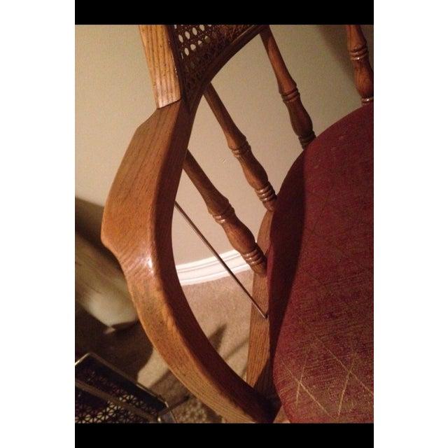 Vintage Cane Lawyers Adjustable Desk Chair - Image 5 of 6