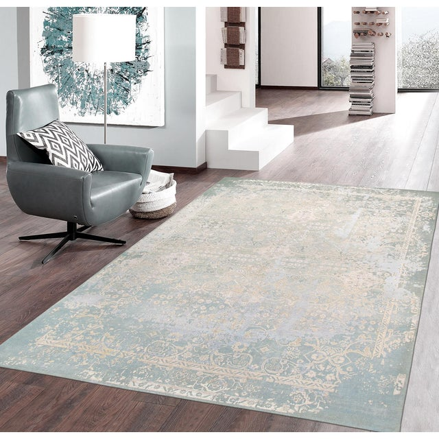 "Pasargad Transitiona Silk Wool Rug - 7'11"" x 9'11"" - Image 4 of 4"