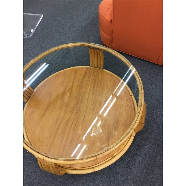 Image of Paul Frankl Rattan Coffee Table