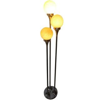 Chrome And Murano Italian Floor Lamp
