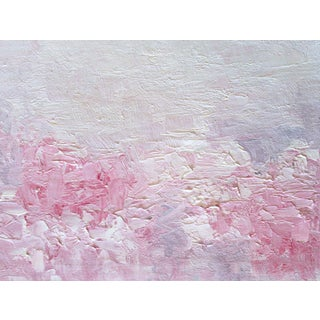 Pink Posies Abstract Impasto Oil Painting