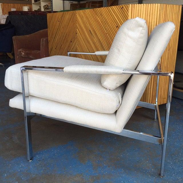 Milo Baughman Chrome Lounge Chair - Image 3 of 6