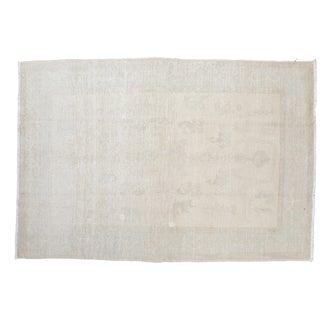 "Distressed Oushak Carpet - 5'8"" x 8'5"""