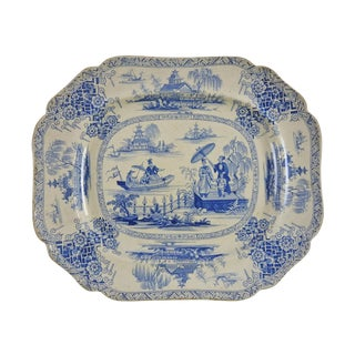 Blue & White Chinoiserie Transferware Platter