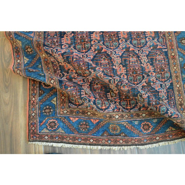 "Paisley Antique Persian Malayer Rug - 3'10"" X 6'4"" - Image 7 of 8"