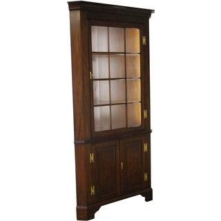 Henkel Harris Chippendale Corner Cabinet