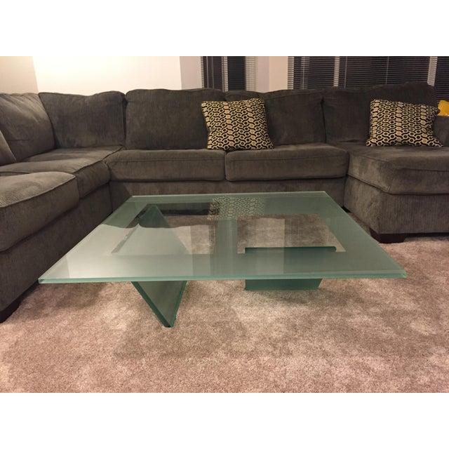 Roche bobois glass coffee table chairish - La roche bobois table ...