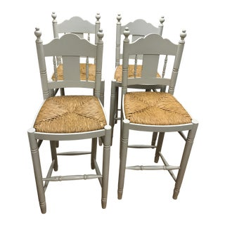 Nantucket Style Bar Stools - Set of 4