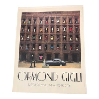 1983 Vintage Ormond Gigli Girls in Windows New York City Exhibition Poster