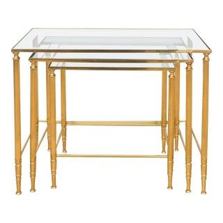 Italian Brass Nesting Tables - Set of 3