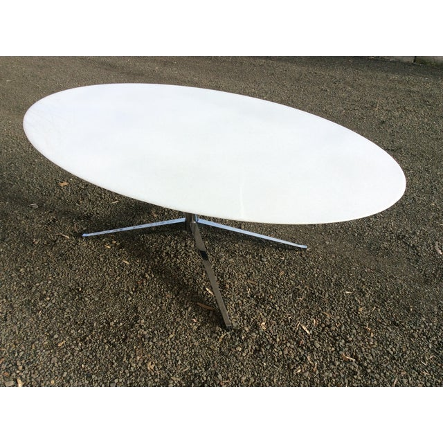 Florence Knoll Table Special Order Thassos Marble - Image 6 of 10