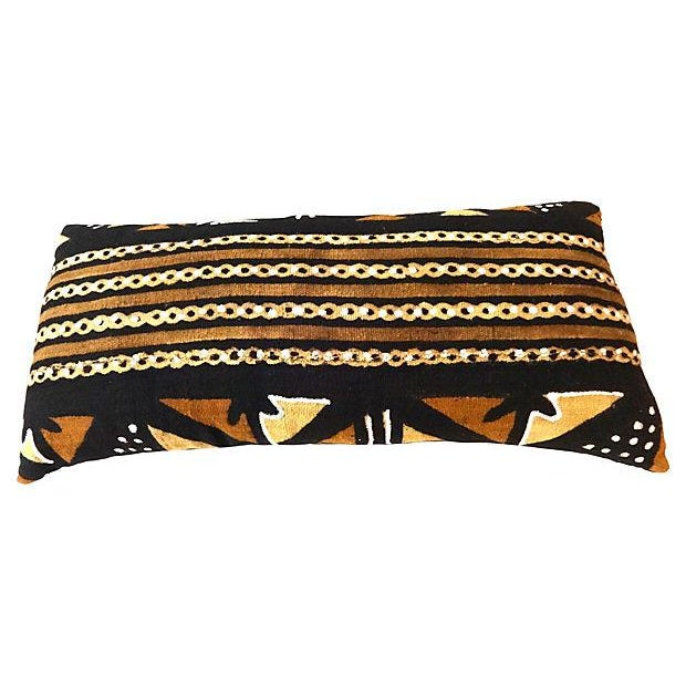 African Mud Cloth Large Long Pillow - Image 2 of 6