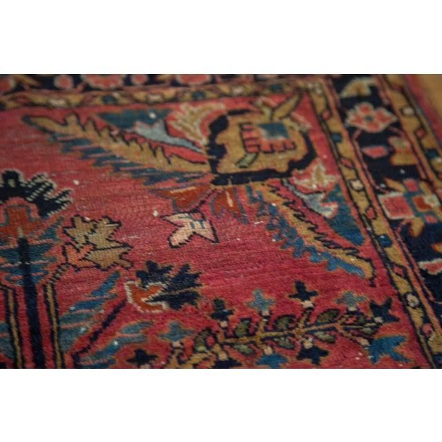 "Vintage Persian Sarouk Rug Mat - 2'3"" X 2'9"" - Image 7 of 7"