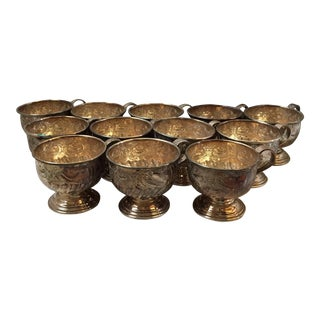 Viners of Sheffield Chased Silver Cups - Set of 12