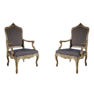 Set of Two Venetian Arm Chairs