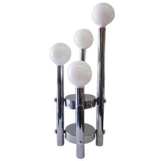 Four-Tier Chrome Table Lamp