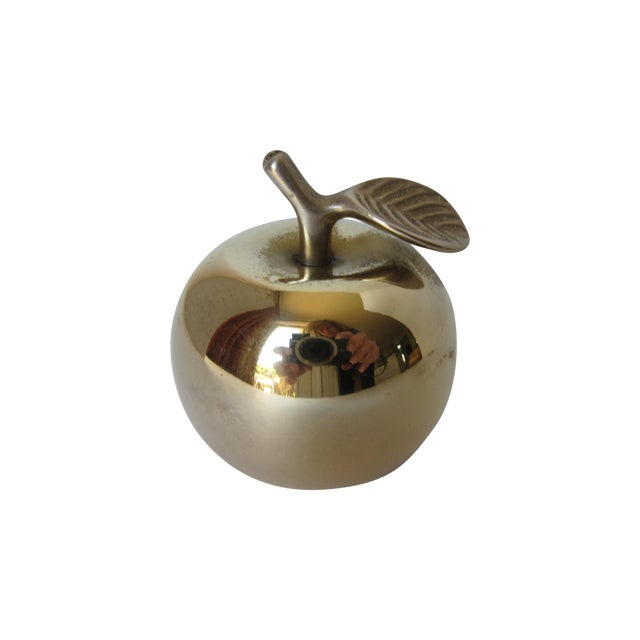 Vintage Brass Apple Bell - Image 1 of 6