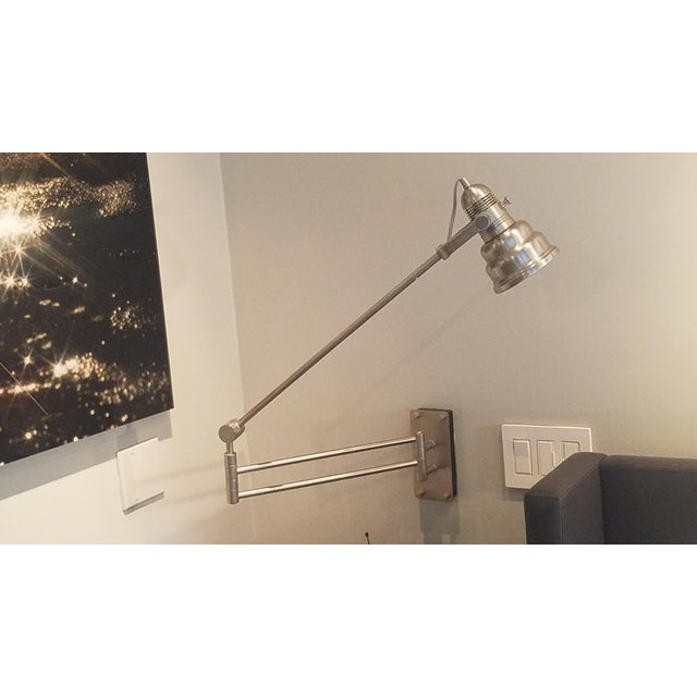 Articulated Industrial Cone Wall Lamps - A Pair - Image 2 of 7