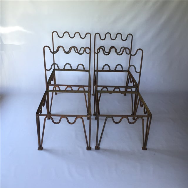1940s Sculptural Modernist Iron Patio Chairs - 4 - Image 8 of 11