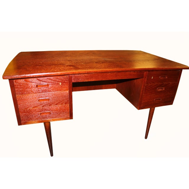 1960s Danish Mid-Century Rosewood Desk with Curved Top - Image 2 of 8