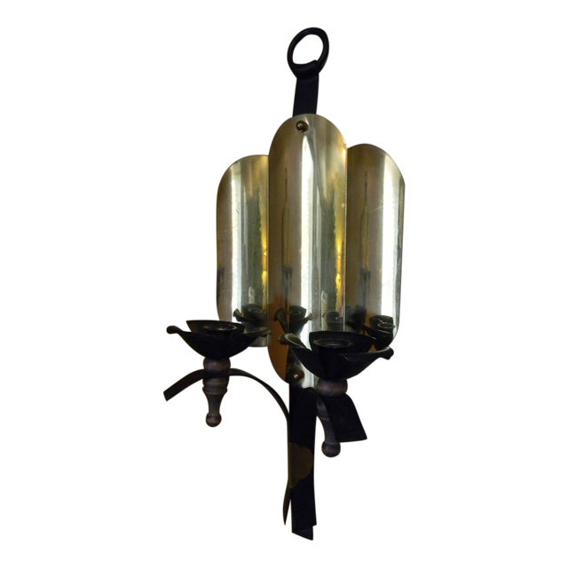 Image of Vintage Brass Art Deco Sconces - A Pair