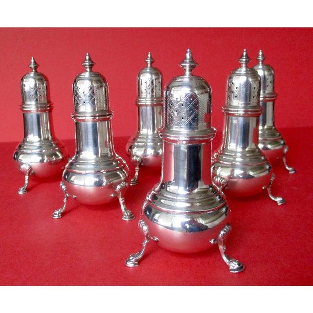 Antique Sterling Salt & Pepper Shakers - Set of 6 - Image 2 of 9