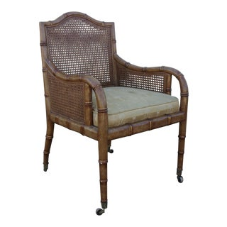 Vintage Faux Bamboo & Cane Chair