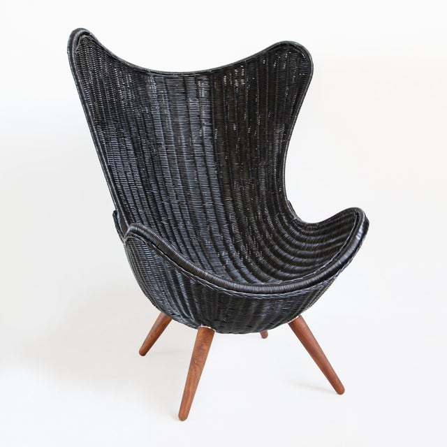 Ebony Wicker Egg Chair - Image 3 of 4