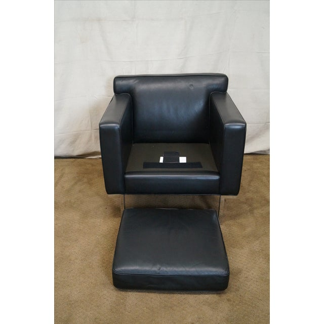 Ted Boerner American Leather Club Chairs - Pair - Image 6 of 10