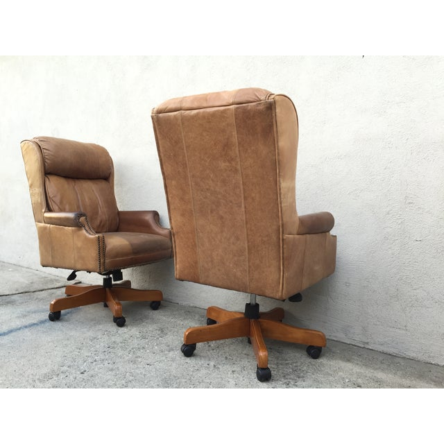 Mid-Century Italian Leather Chairs - Pair - Image 6 of 11