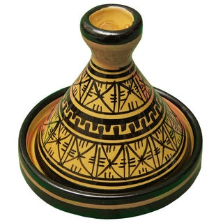 Moroccan Hand-Painted Ceramic Lidded Bowl