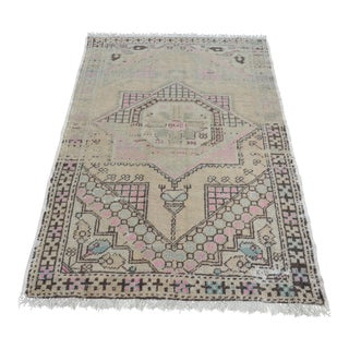 Faded Anatolian Tribal Carpet - 3′9″ × 5′11″