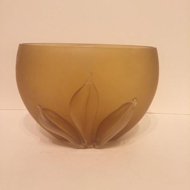 Image of Kamei Glass Osaka Japanese Art Vase