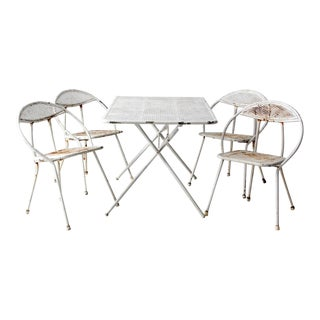 Mid-Century Patio Table & Chair Set