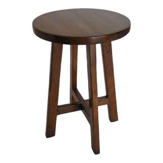 Custom Round Walnut Wood Side or End Table