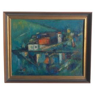 Rico Blass Oil Mid Century Modern Painting